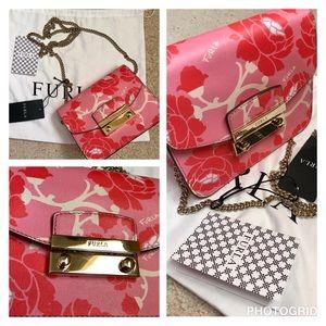 Furla Julia mini floral saffiano leather bag